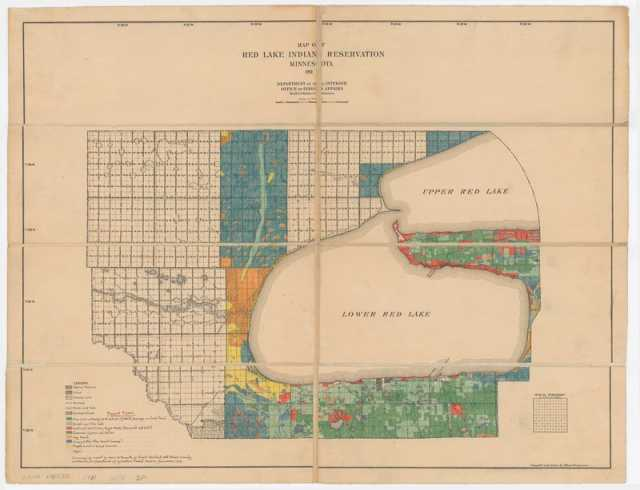 Map of Red Lake Indian Reservation, 1911
