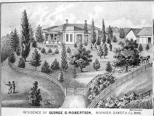 Nininger residence of George Robertson