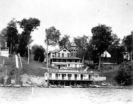 Lake view of the Hotel Buena Vista in Mound, 1905.