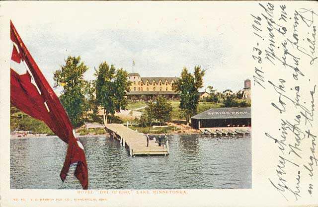 Color photograph of the Hotel Del Otero, c.1906