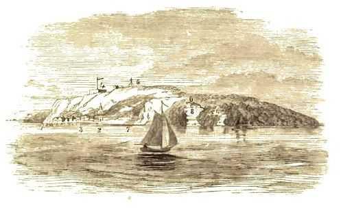 Drawing of Mackinac Island, c.1860.