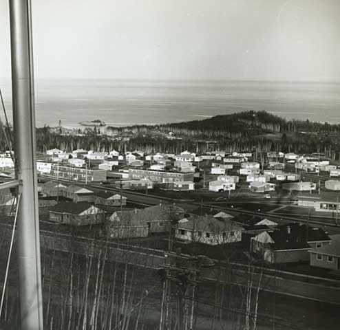 aerial view of Reserve Mining Company village