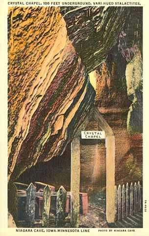 """Photograph of """"Chapel Room"""" at Niagara Cave, 1940"""
