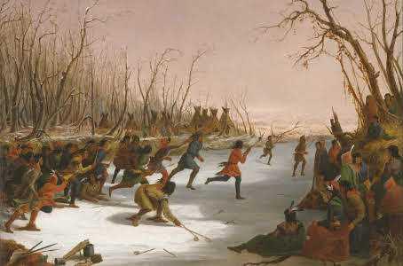 Dakota on the St. Peters River in Winter, 1848. Seth Eastman (1808–1875)
