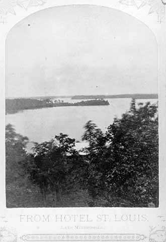 Black-and-white image from Michael Nowack's album of Lake Minnetonka photographs, 1881.