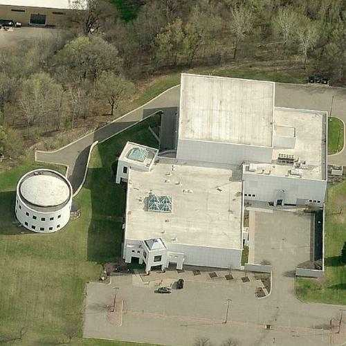 Bird's-eye view of Paisley Park complex