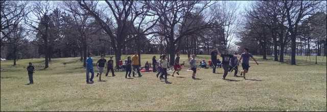 Community lacrosse game in Minneapolis