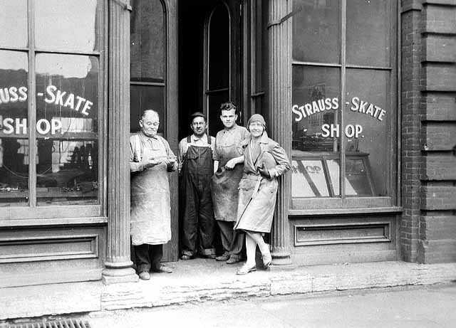 John Strauss Sr. with William Blochinger and John Strauss Jr.
