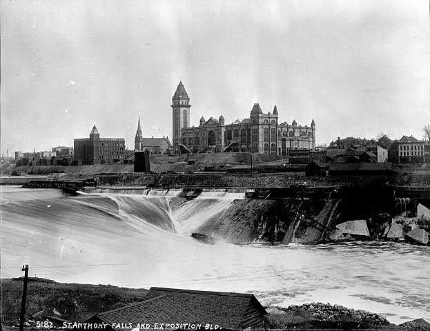 Exposition Building and St. Anthony Falls, Minneapolis