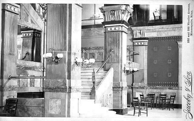 Lobby of West Hotel, Hennepin Avenue at Fifth Street, Minneapolis