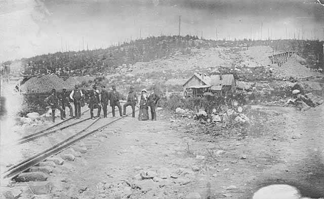 Oliver Iron Mining Company's first location at Soudan, St. Louis County