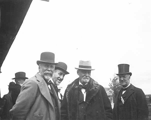 Governor John S. Pillsbury and friends at State Fair