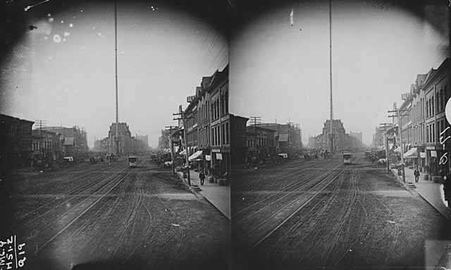 Bridge Square; Light Tower at center, Minneapolis
