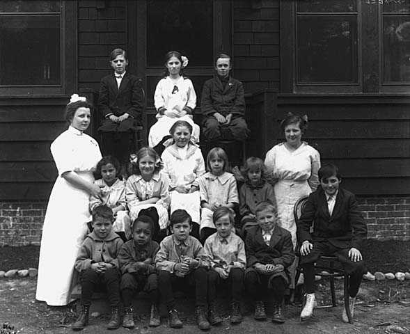 Children at State Sanatorium near Walker