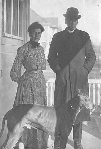 Governor John A. Johnson with his wife Elinore and their dog Ray