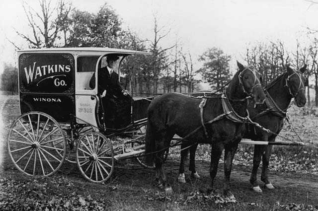 A.W. Jesperson, salesman for Watkins' Remedies of Minneapolis