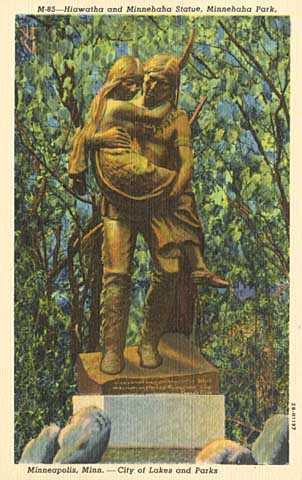 Hiawatha statue, Minnehaha Park, Minneapolis