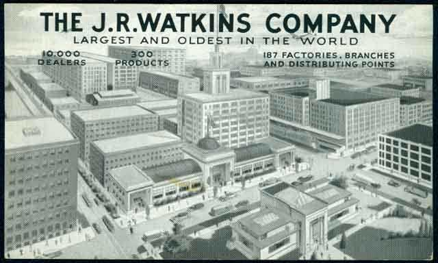 Bird's-eye view of J.R. Watkins Company