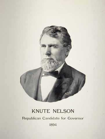 Knute Nelson - Republican Candidate for Governor 1894