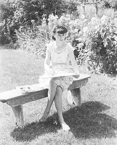 Photograph of Wanda Gág in 1944.