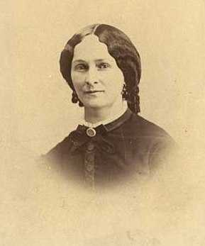 Black and white photograph of Sarah Jane Steele Sibley, wife of Henry H. Sibley, 1858.
