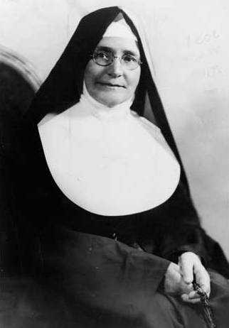 Black and white photograph of Sister Antonia McHugh, St. Catherine College's first dean and first president, 1936.