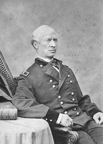 Black and white photograph of Seth Eastman late in his life, ca.1873.