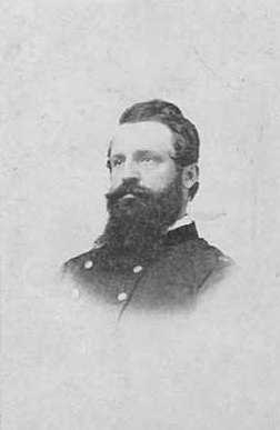 Black and white photograph of Major Alfred B. Brackett, c.1863.