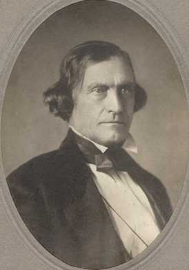 Black and white photograph of Joseph Renshaw Brown, c.1863. Photograph by Hirsch Brothers.