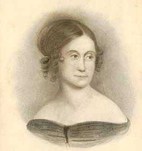 Black and white drawing of Abigail Hunt Snelling, c.1875.