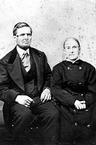 Black and white photograph of Lewis H. and Hephzibah J. Merritt, c.1880.