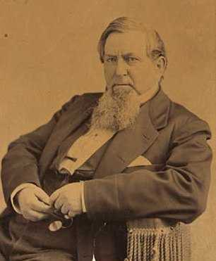 Black and white photograph of George W. Cass, c.1875.