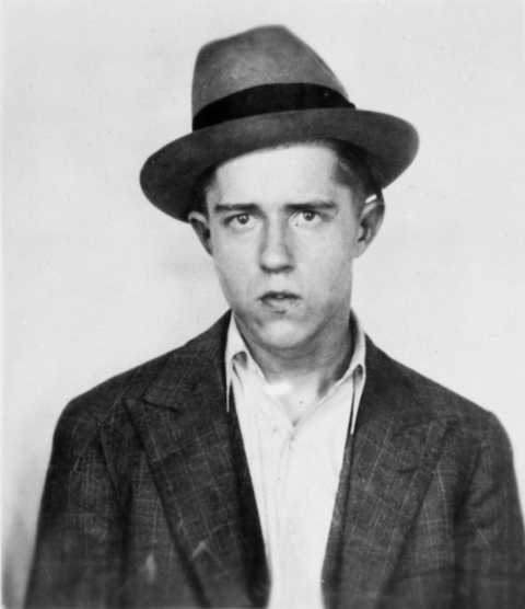 Black and white photo print of gangster Alvin Karpis, c. 1925.