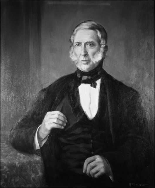 Black and white photograph of Jean Baptiste Faribault, c.1850.
