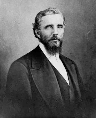 Black and white photograph of Lewis Harrington, c.1866.