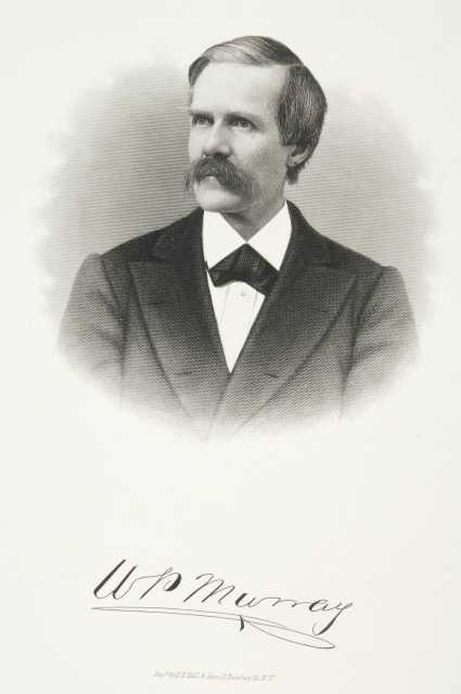 "Engraving of William Porter ""Pitt"" Murray, ca. 1870."