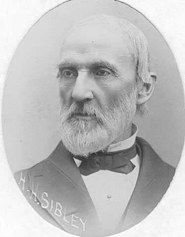 Black and white photograph of Henry H. Sibley while he was the director of the St. Paul Chamber of Commerce, 1889.