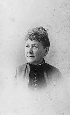 Black and white photograph of Katherine McCaffrey Donnelly, wife of Ignatius Donnelly, 1888.