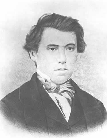 Black and white photoprint of James J. Hill, 1856.