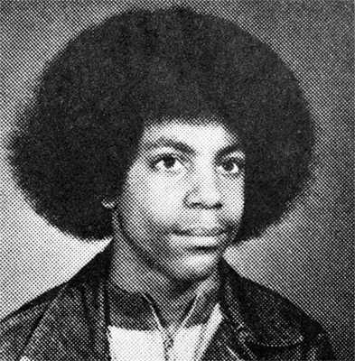 Prince's junior high school yearbook photograph
