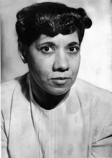 Black and white photograph of Nellie Stone Johnson, c.1935.