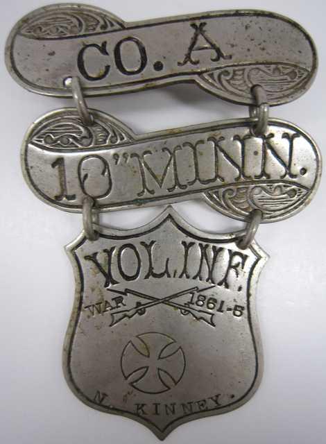 Civil War veterans' organization badge