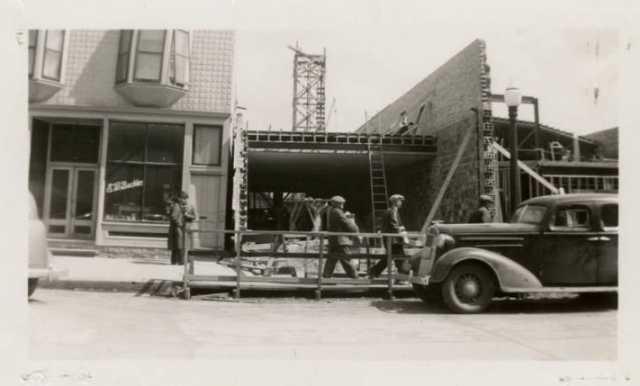 Chief Theatre under construction