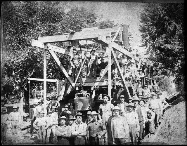 Minneapolis sewer system under construction.