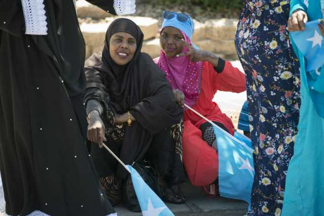 Photograph of women celebrating Somali Independence Day.