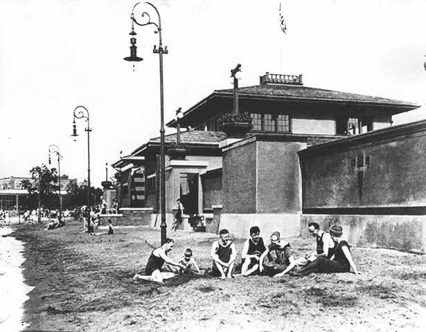 The Bathhouse at Wildwood, c.1915.