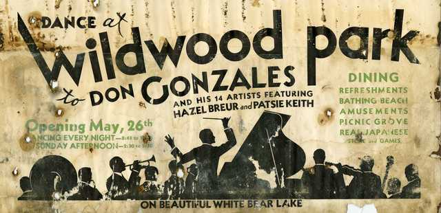 An advertisement for a concert at Wildwood, c.1920.
