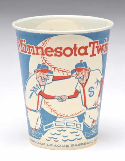 1961 Minnesota Twins concession cup