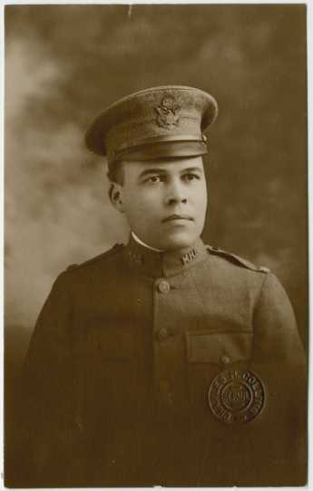 Black and white photograph of Major Jose H. Sherwood, 1918.