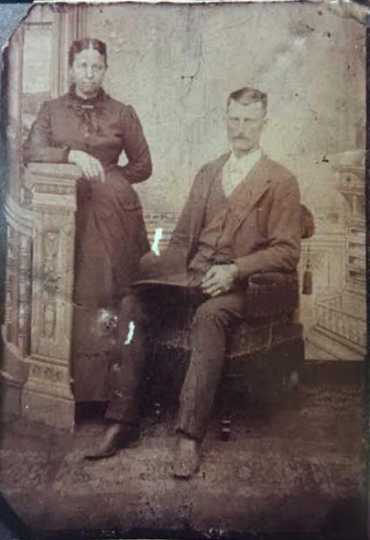 Black and white photograph of Warren and Mary Amanda Braman, ca. 1880s–1890s. From the collection of CarrieJo Cowler.